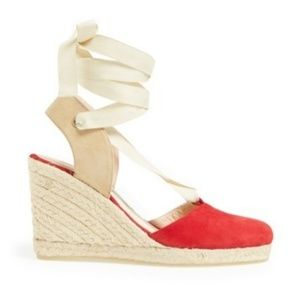 SJP by Sarah Jessica Parker Shoes - SJP velvet red espadrilles